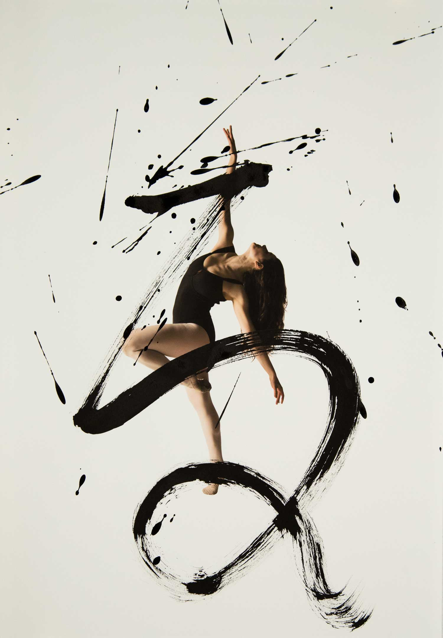 Expressive Combination of Ballet Dancers and Calligraphy | Yellowtrace
