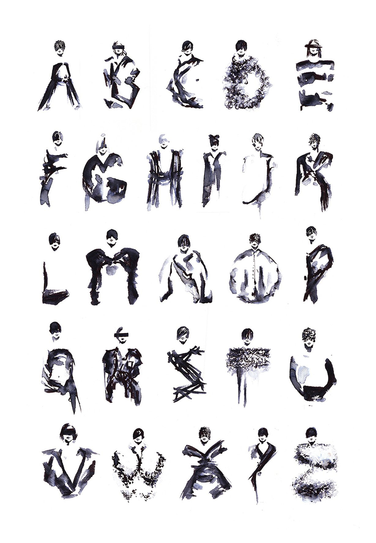 Fashion Typography based on Maison Martin Margiela   Yellowtrace