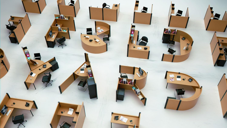 Fold Yard Open Office System by Benoit Challand | Yellowtrace