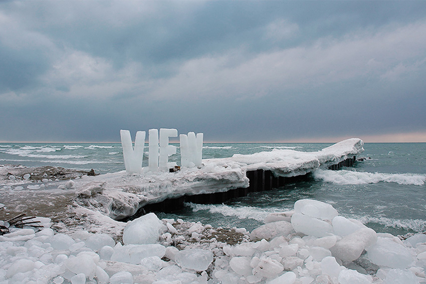 Ice Typography by Nicole Dextras | Yellowtrace