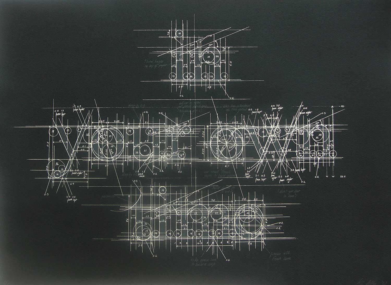 MBlueprint Chalk Typography by Liz Collini   Yellowtrace