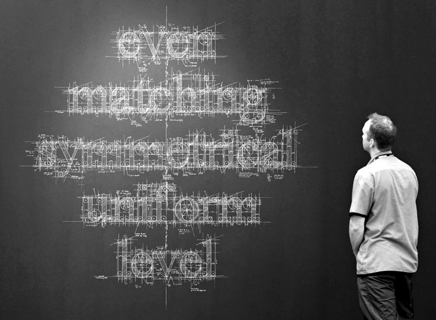 MBlueprint Chalk Typography by Liz Collini | Yellowtrace