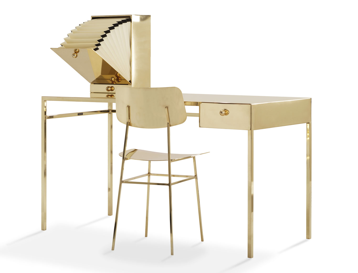 Nika Zupanc Naked Desk & Chair | #MILANTRACE2015 by Yellowtrace