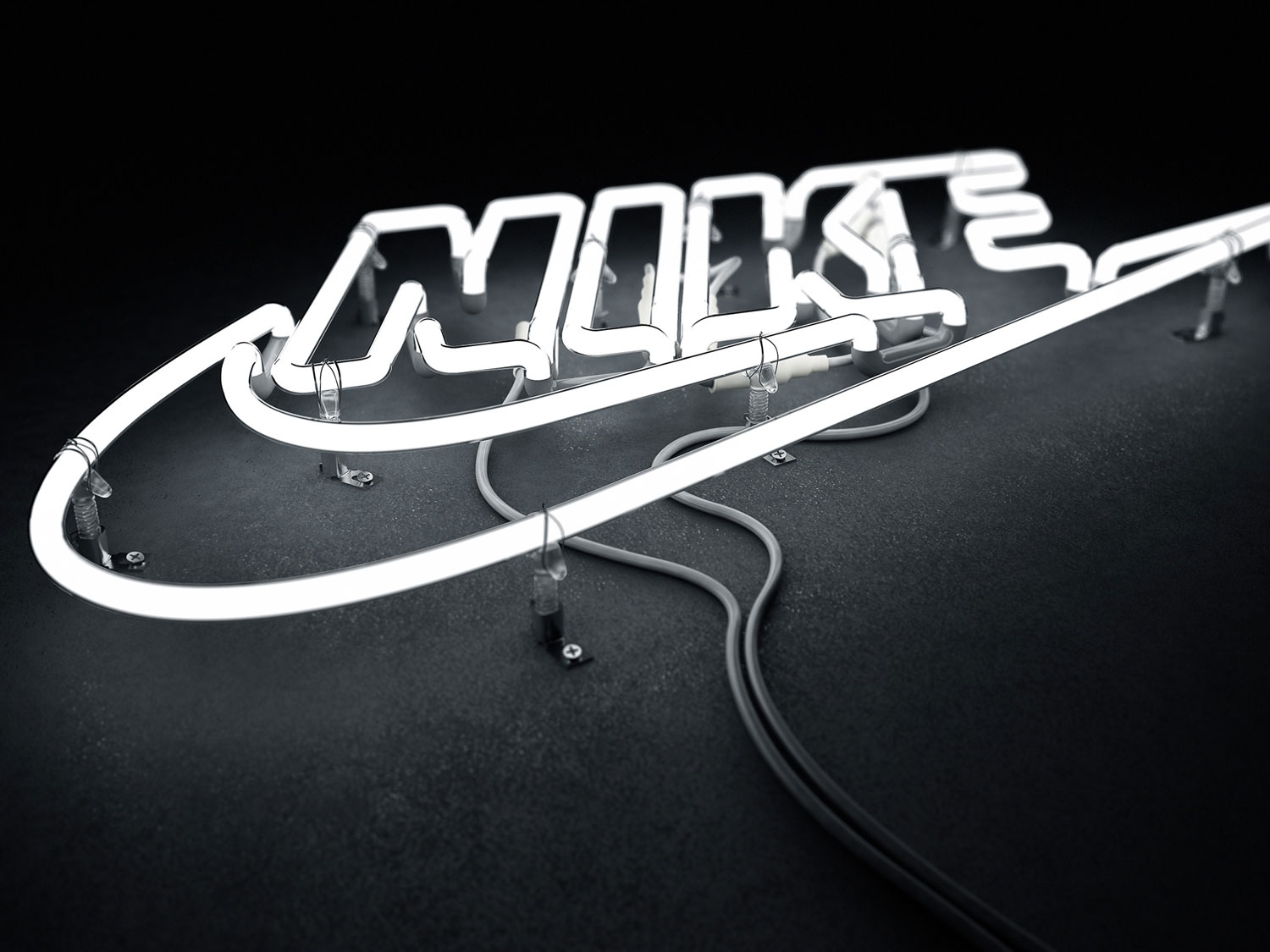 Nike Neon Logo by Rizon Parein | Yellowtrace