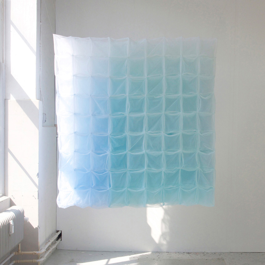 Semi-transparent Textile Bricks by Akane Moriyama | Yellowtrace