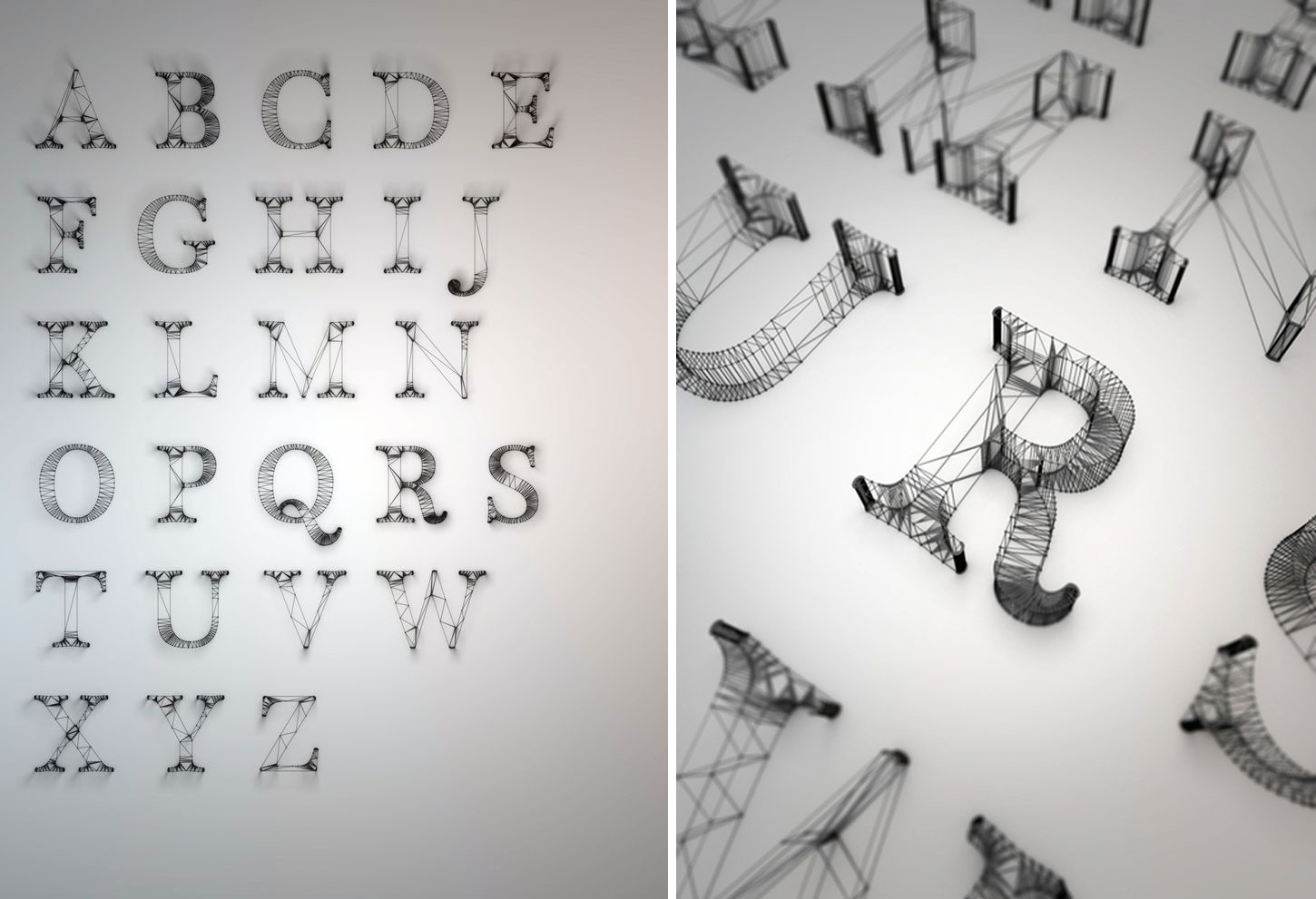 Wire Typography England knstrkt | Yellowtrace