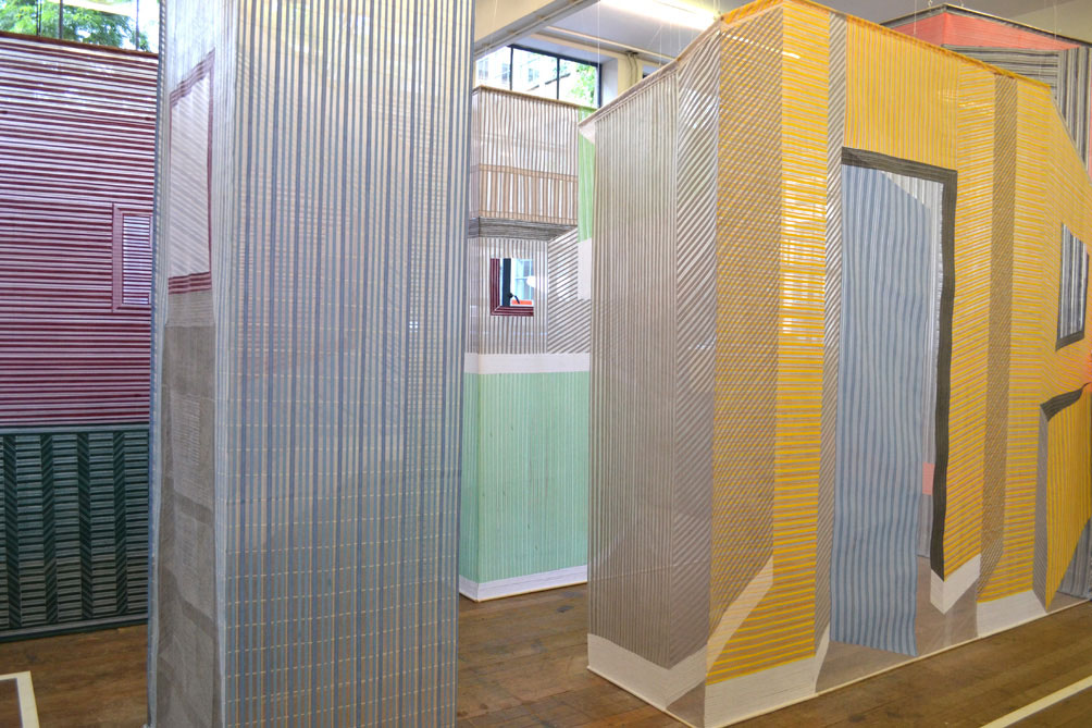 Woven Textile Wall Installations by Wies Preijide | Yellowtrace