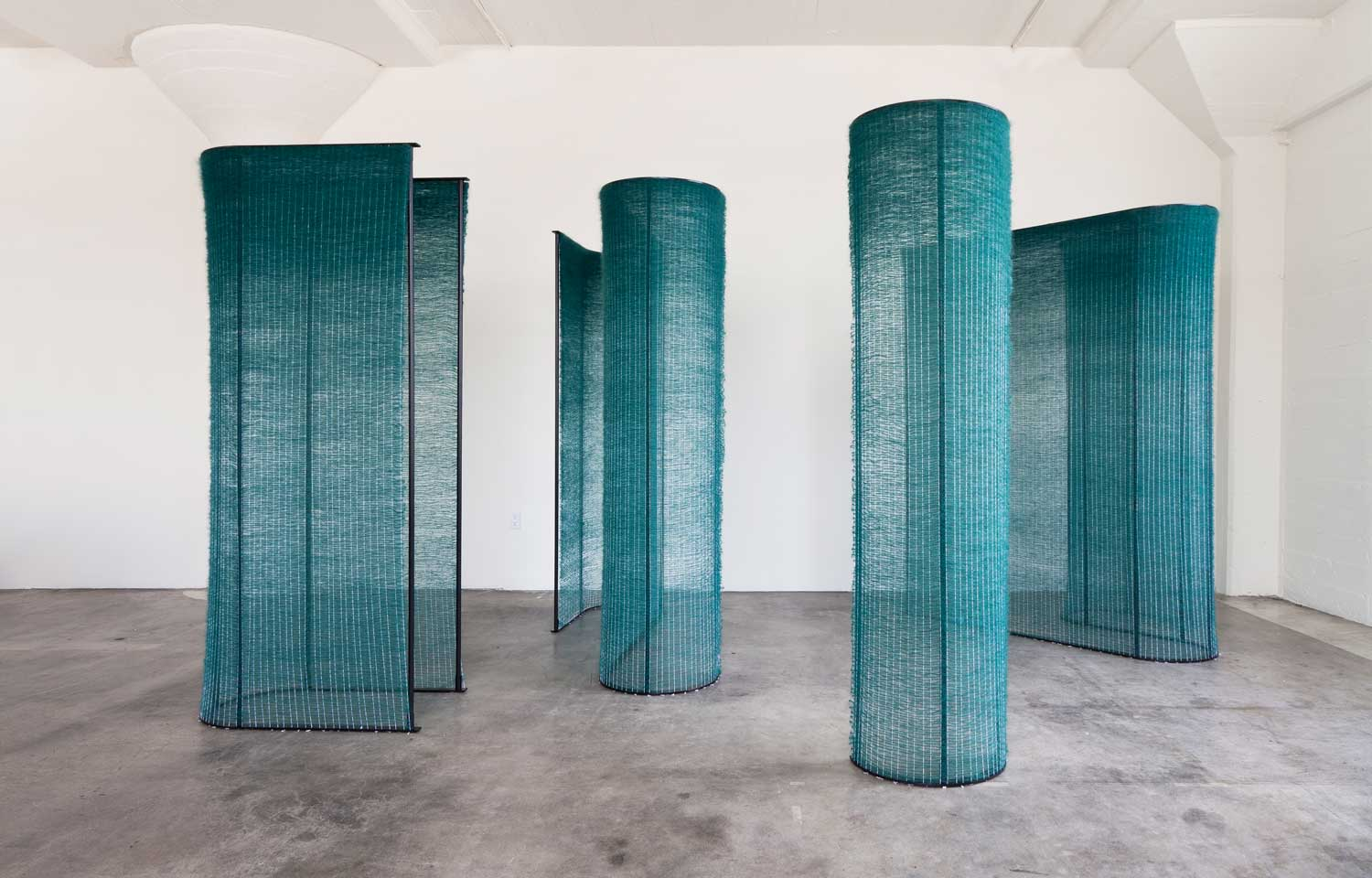 Four Teal Walls by Mimi Jung at Collective Design Fair | Yellowtrace