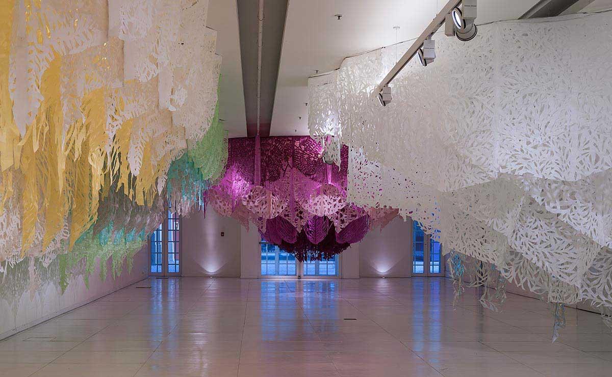 textile installation art yellowtrace