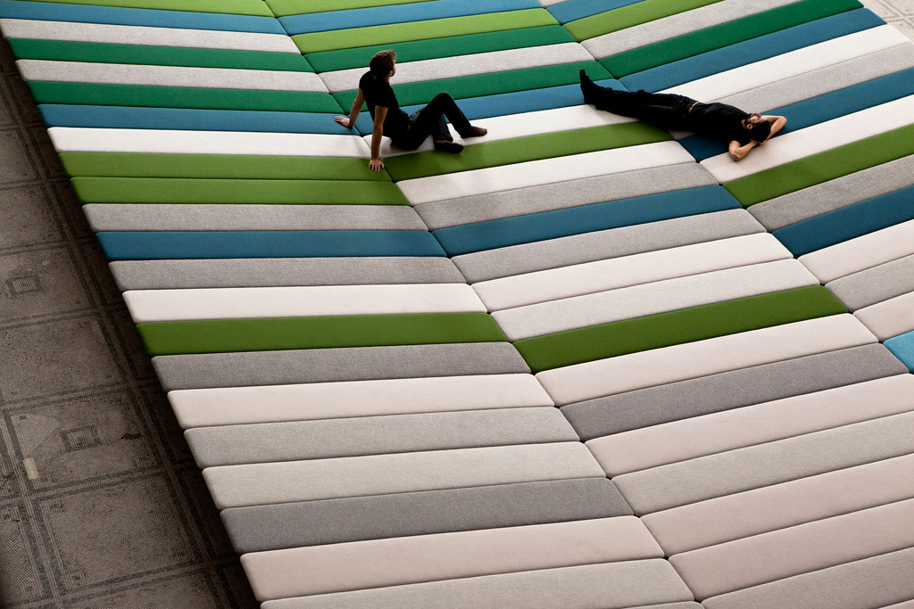 Textile Field Installation for Kvadrat by The Bouroullec Brothers at V&A London | Yellowtrace