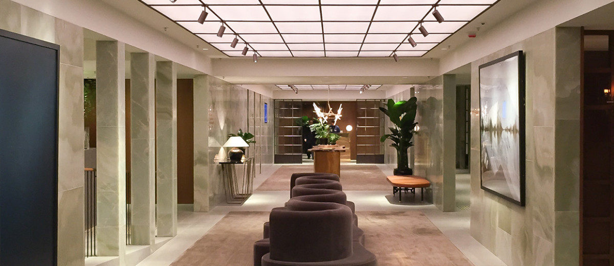 Cathay Pacific's The Pier First Class Lounge in Hong Kong by Ilse Crawford of Studioilse | Photo by Dana Tomic Hughes, Yellowtrace