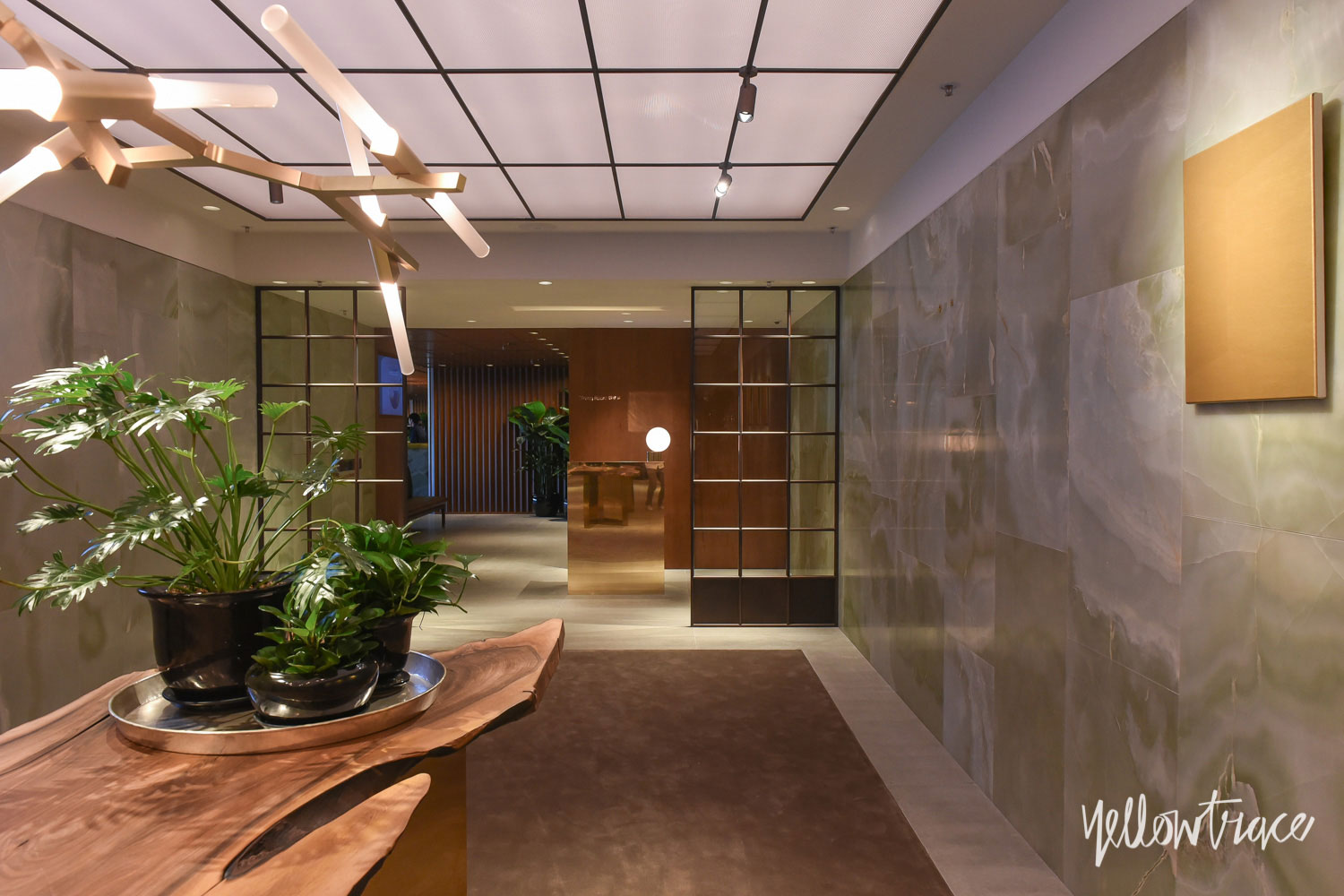 Cathay Pacific's The Pier First Class Lounge in Hong Kong by Ilse Crawford of Studioilse   Photo by Nick Hughes, Yellowtrace