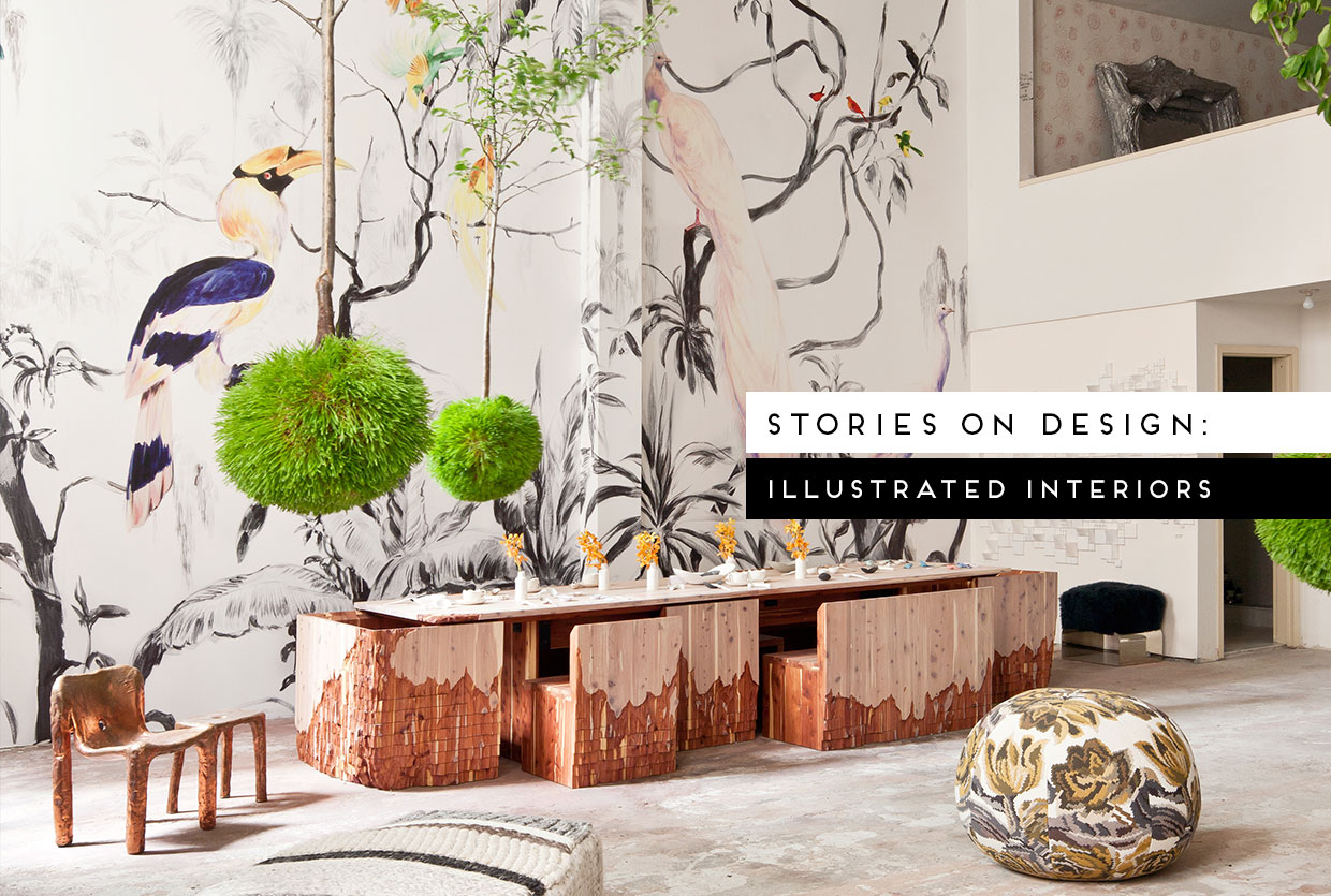 Illustrated Interiors Curated by Yellowtrace