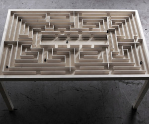 Labyrinth Table by Benjamin Nordsmark | Yellowtrace