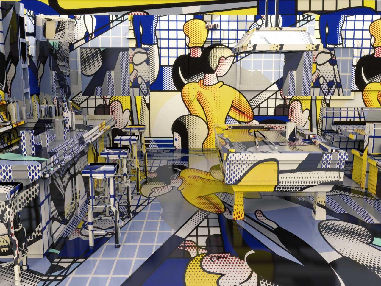 Jon Rafman Brand New Paint Job / Artist wrapped rooms by Jon Rafman overlay interiors | Yellowtrace
