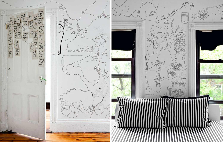 Shantell Martin Illustrated Brooklyn Apartment | Yellowtrace