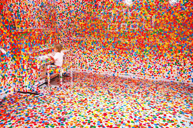 The Obliteration Room by Yayoi Kusama at GoMA | Yellowtrace