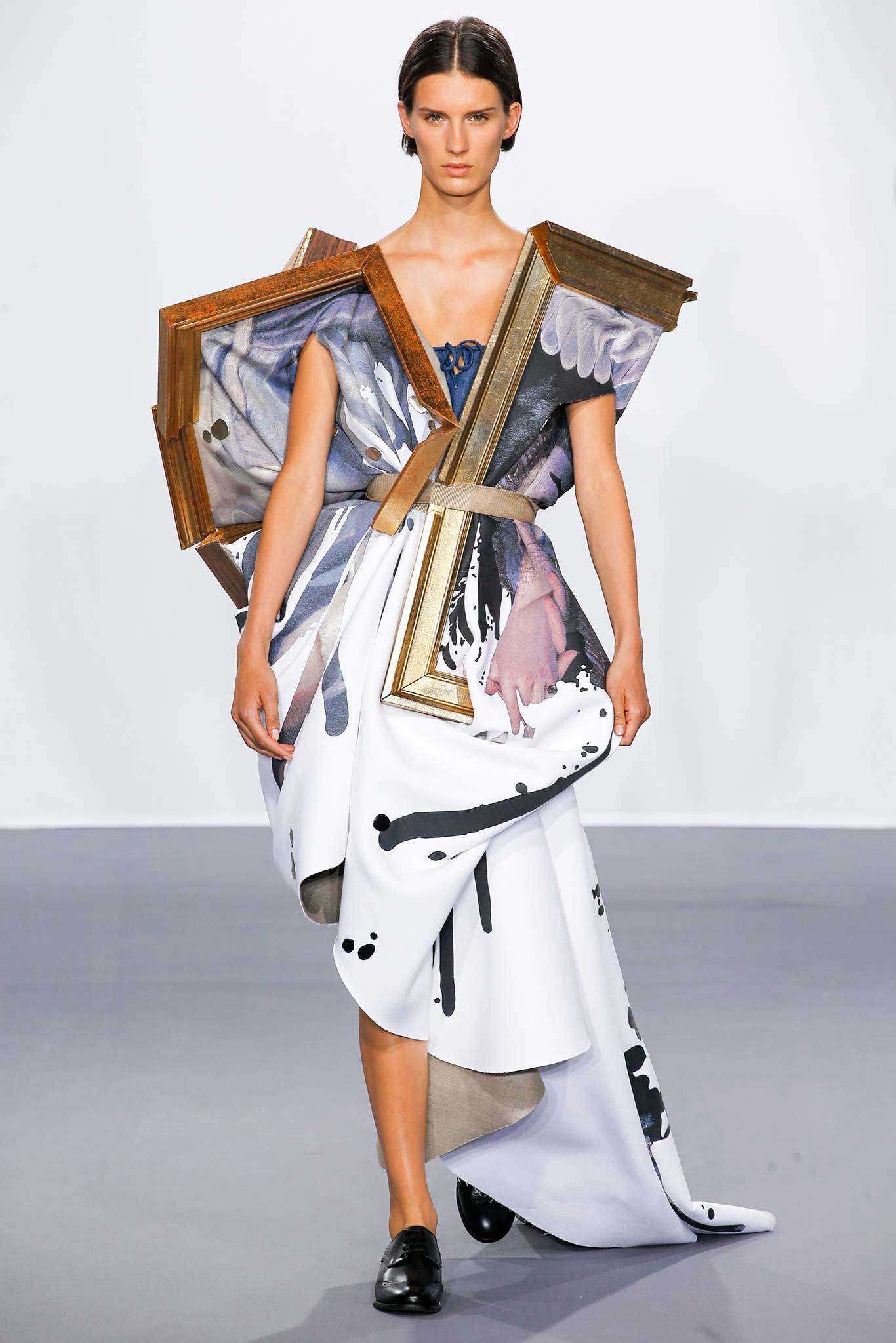 Viktor + Rolf Dress Models in Wearable Paintings   Yellowtrace