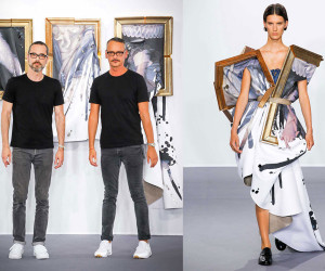 Viktor + Rolf Dress Models in Wearable Paintings | Yellowtrace