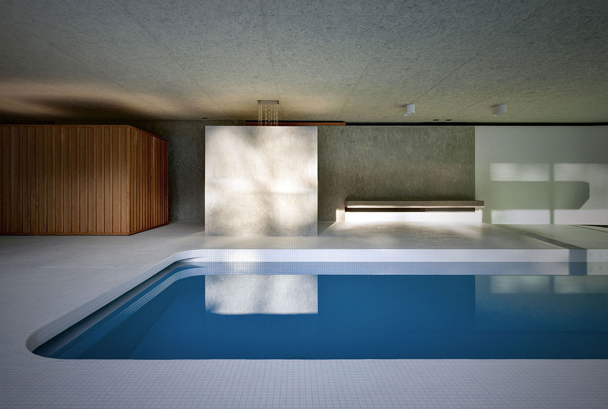 Luxury indoor swimming pool by act romegialli - Luxury swimming pools ...