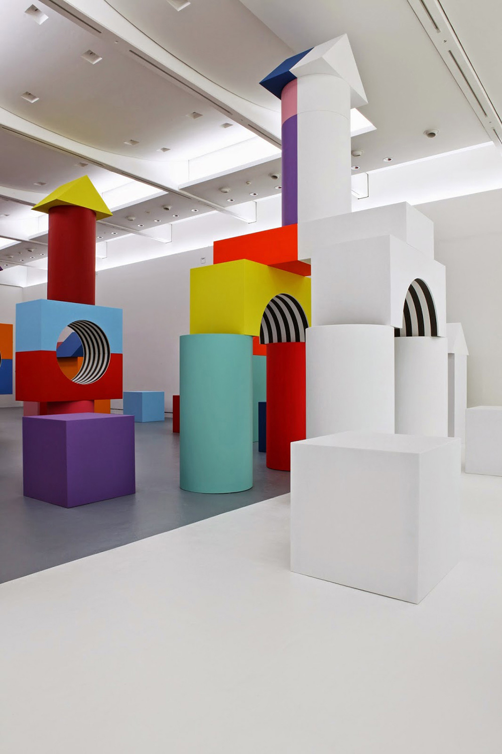 Blocky Art Installation by Daniel Buren Debuts at Museo Madre | Yellowtrace