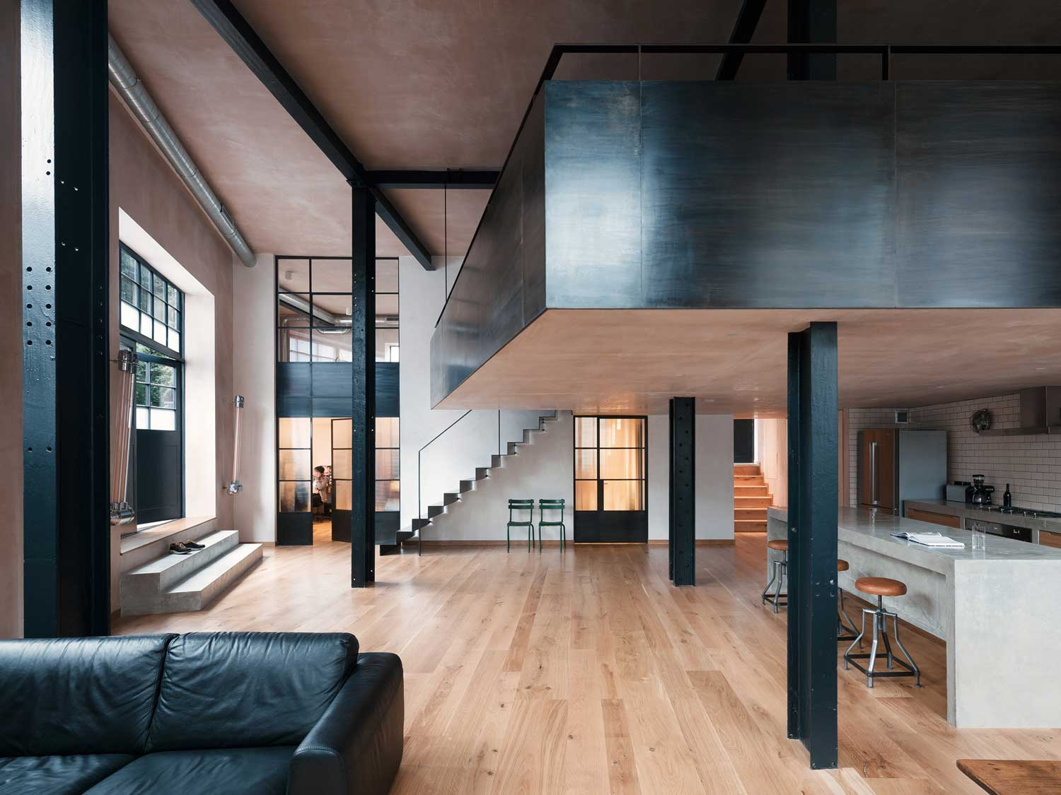 Clapton Warehouse Conversion by Sadie Snelson Architects   Yellowtrace