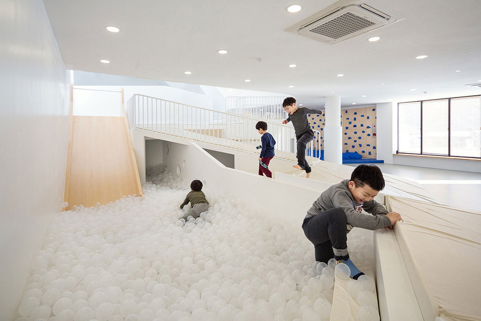 Breezy Backyard Daycare : Dongcheon Dong j One Playscape by Shin Architects  Yellowtrace