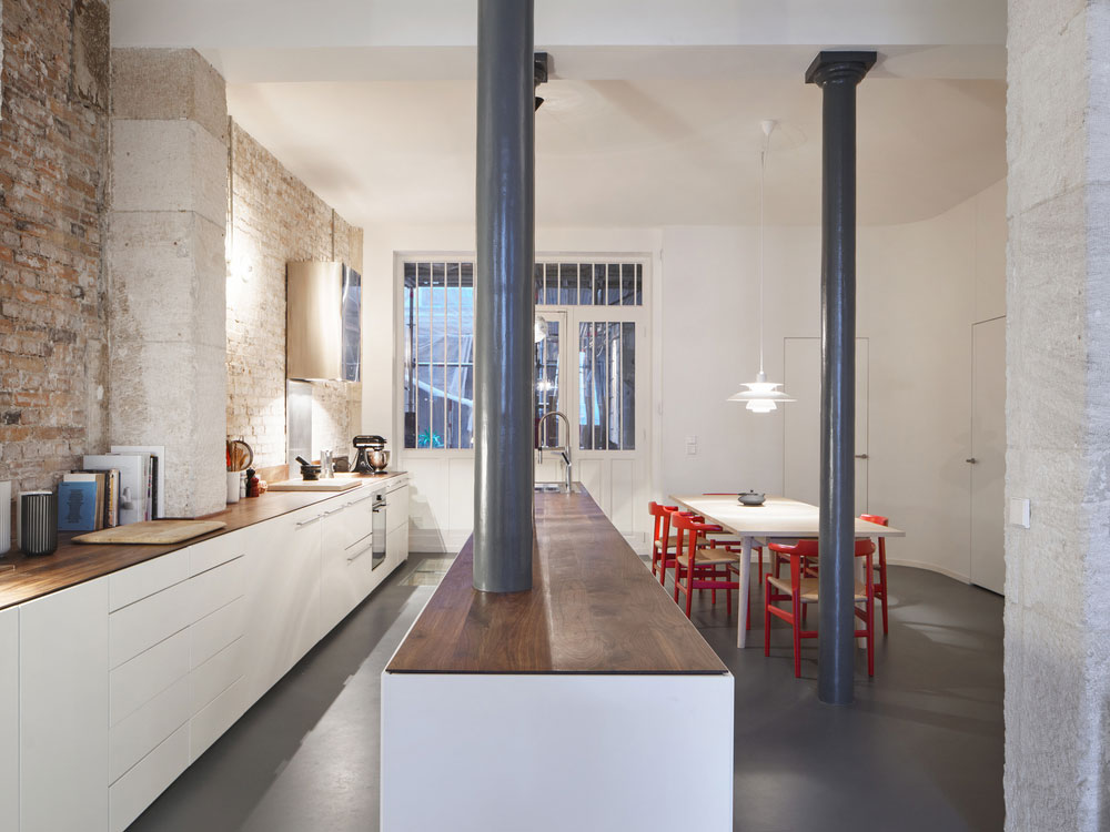 Glass & Walnut Paris Loft by CUT Architectures | Yellowtrace.