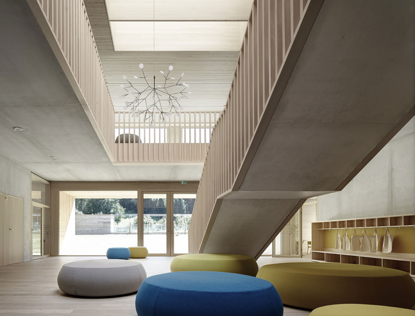 Kindergarten Susi Weigel by Bernardo Bader Architects | Yellowtrace