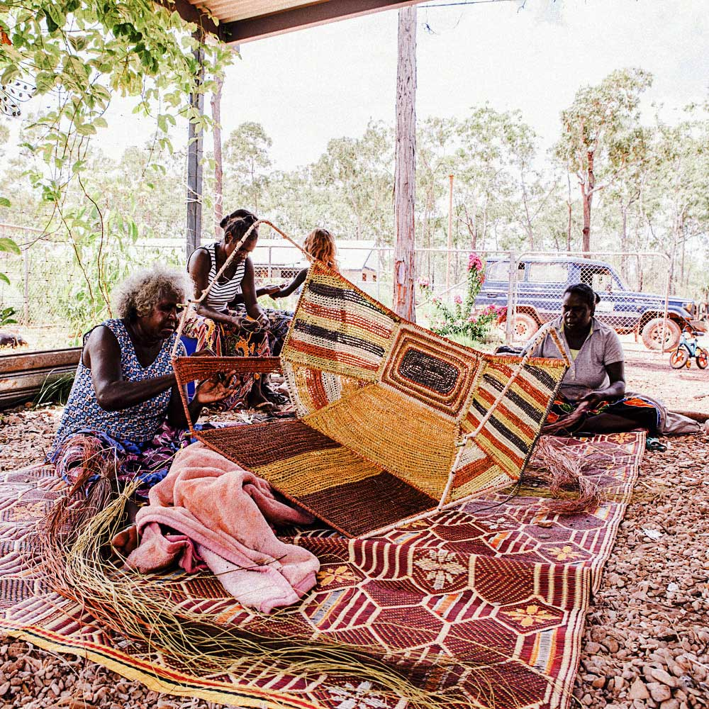 Parallels at NGV Melbourne / Elcho Island Weavers Portrait | Yellowtrace
