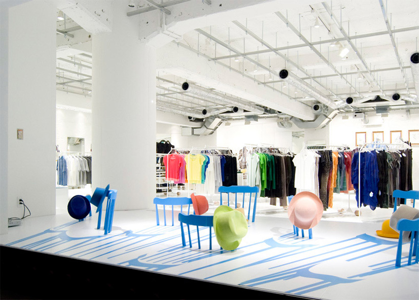 2D/3D Chairs for Issey Miyake by Yoichi Yamamoto Architects | Yellowtrace