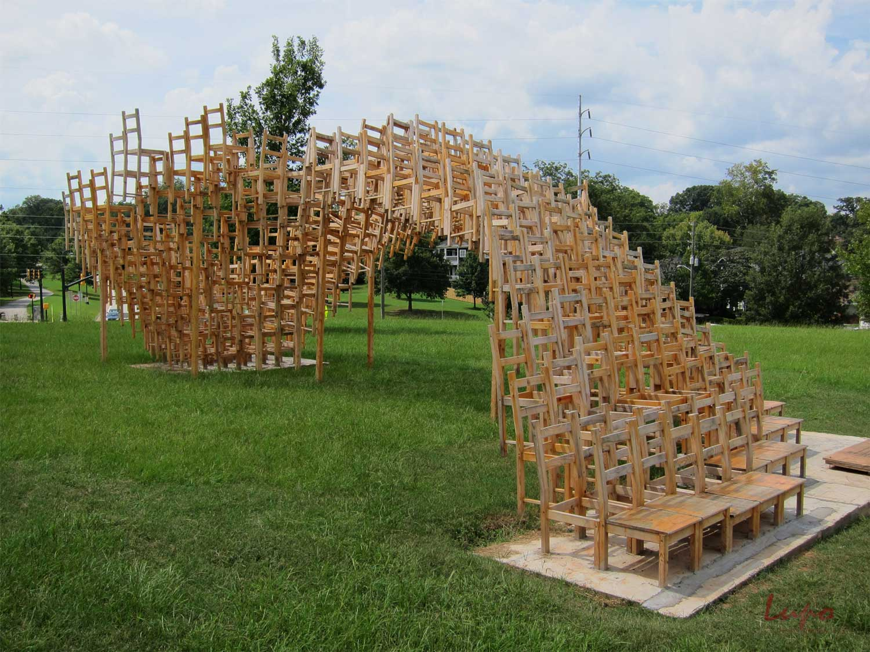 2D/3D Chairs for Issey Miyake by Yoichi Yamamoto Architects | Yellowtrace