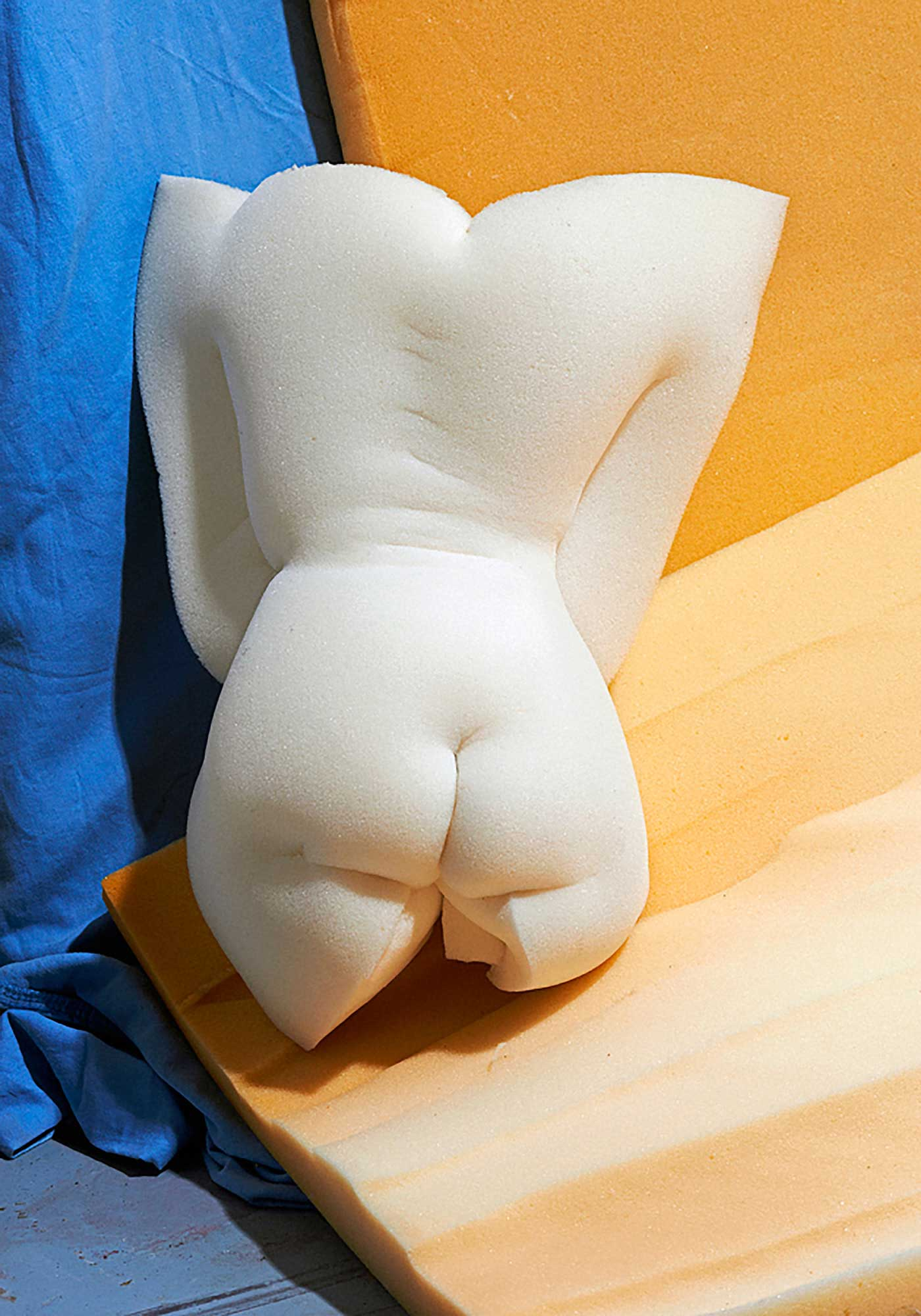 Nudie Rudie Foam Sculptures by Etienne Gros | Yellowtrace