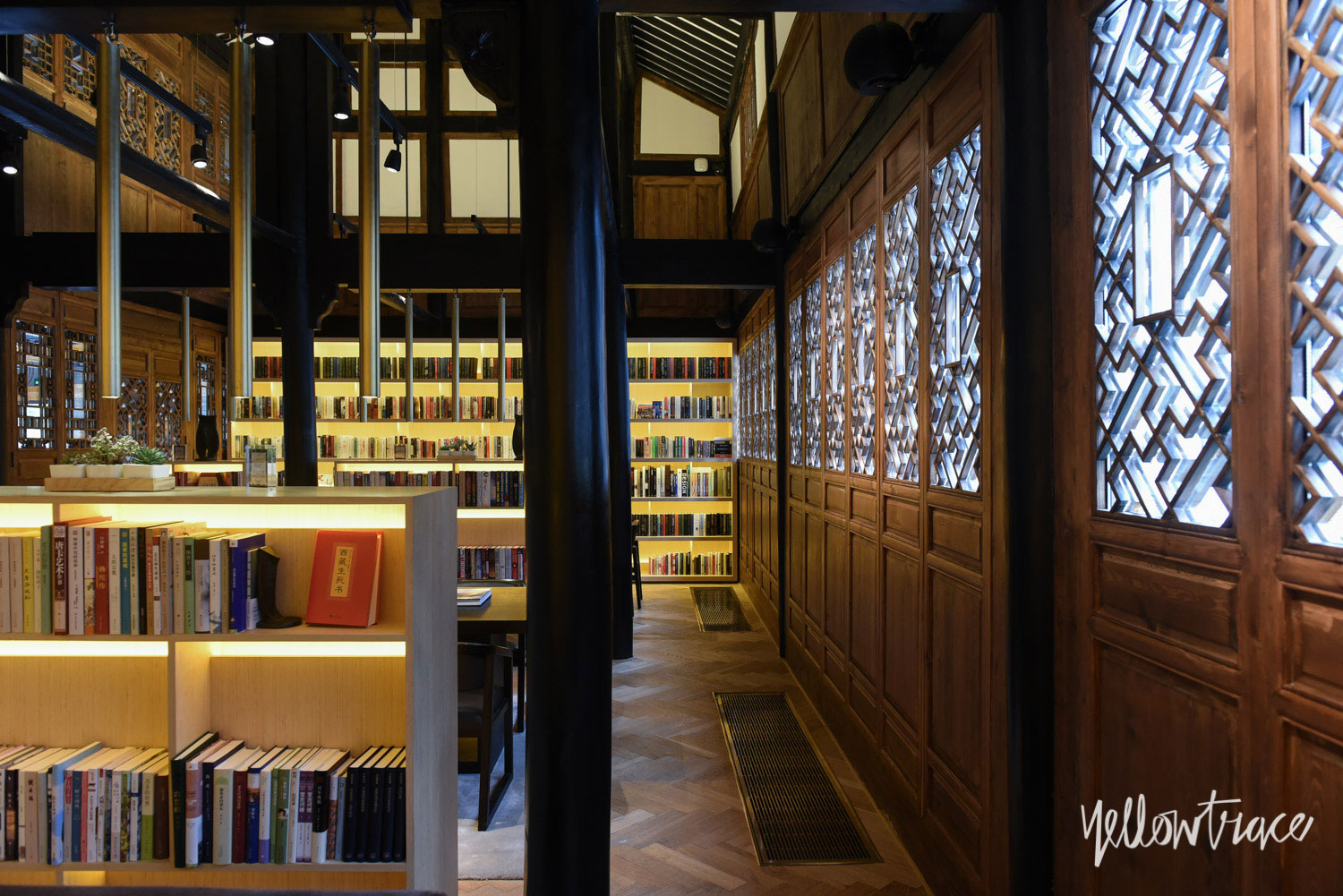 The Guest Library at The Temple House Chengdu China, Photo by Nick Hughes | Yellowtrace