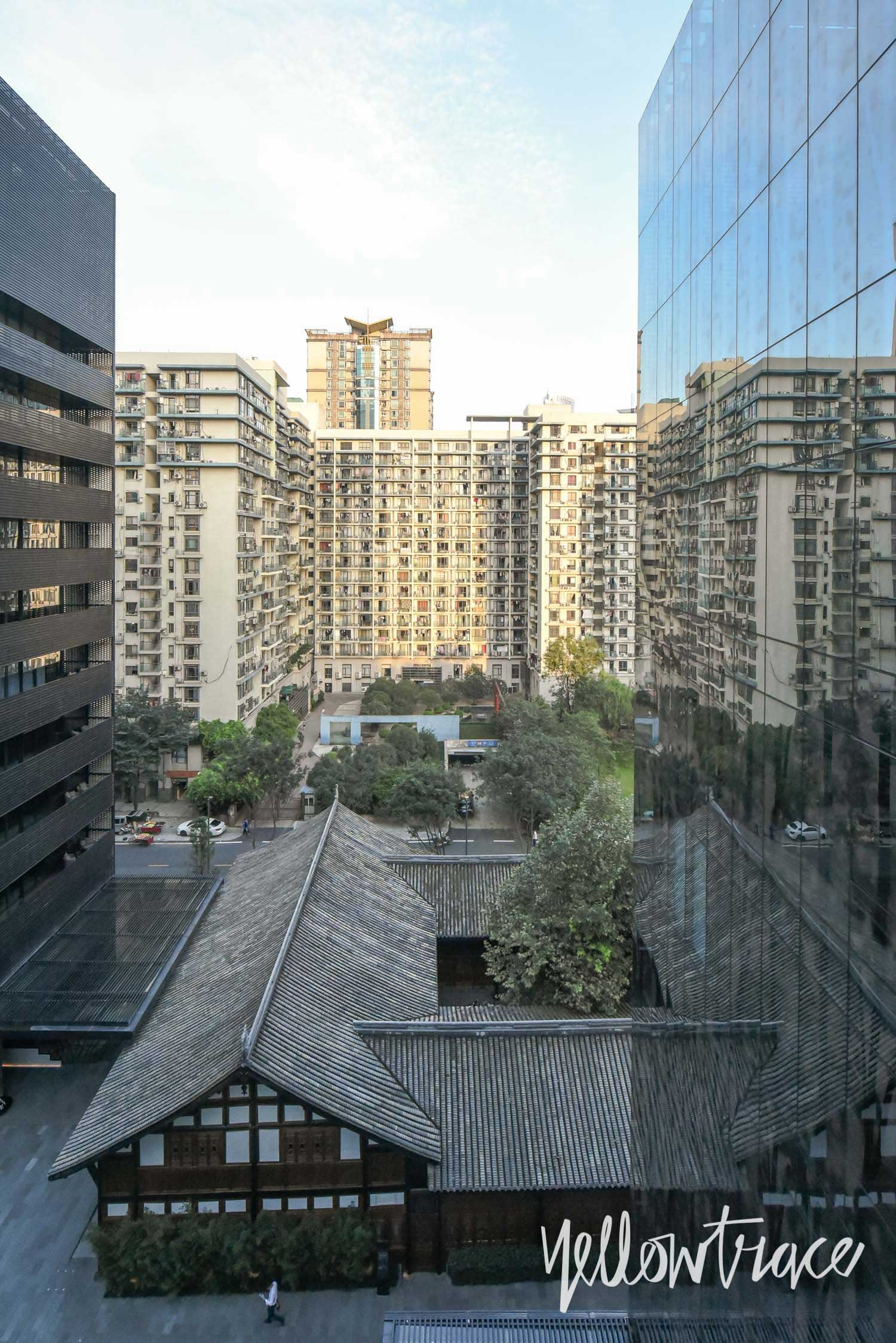 View from Apartments Corridor at The Temple House Chengdu China, Photo © Nick Hughes | Yellowtrace