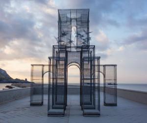 'Incipit' Wire Mesh Sculpture by Edoardo Tresoldi | Yellowtrace