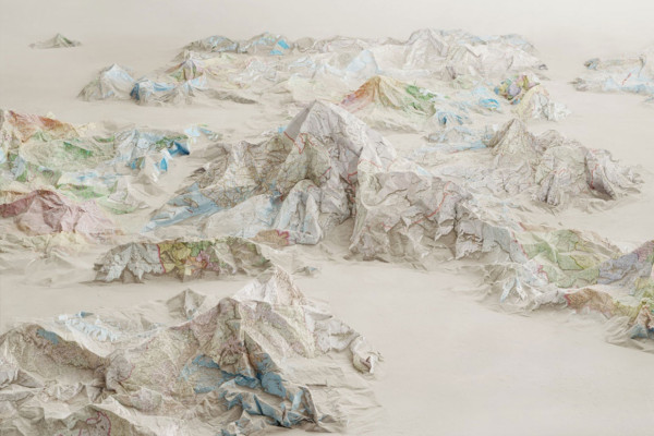 Landscapes of Possibility Made from Maps & Books by Ji Zhou | Yellowtrace