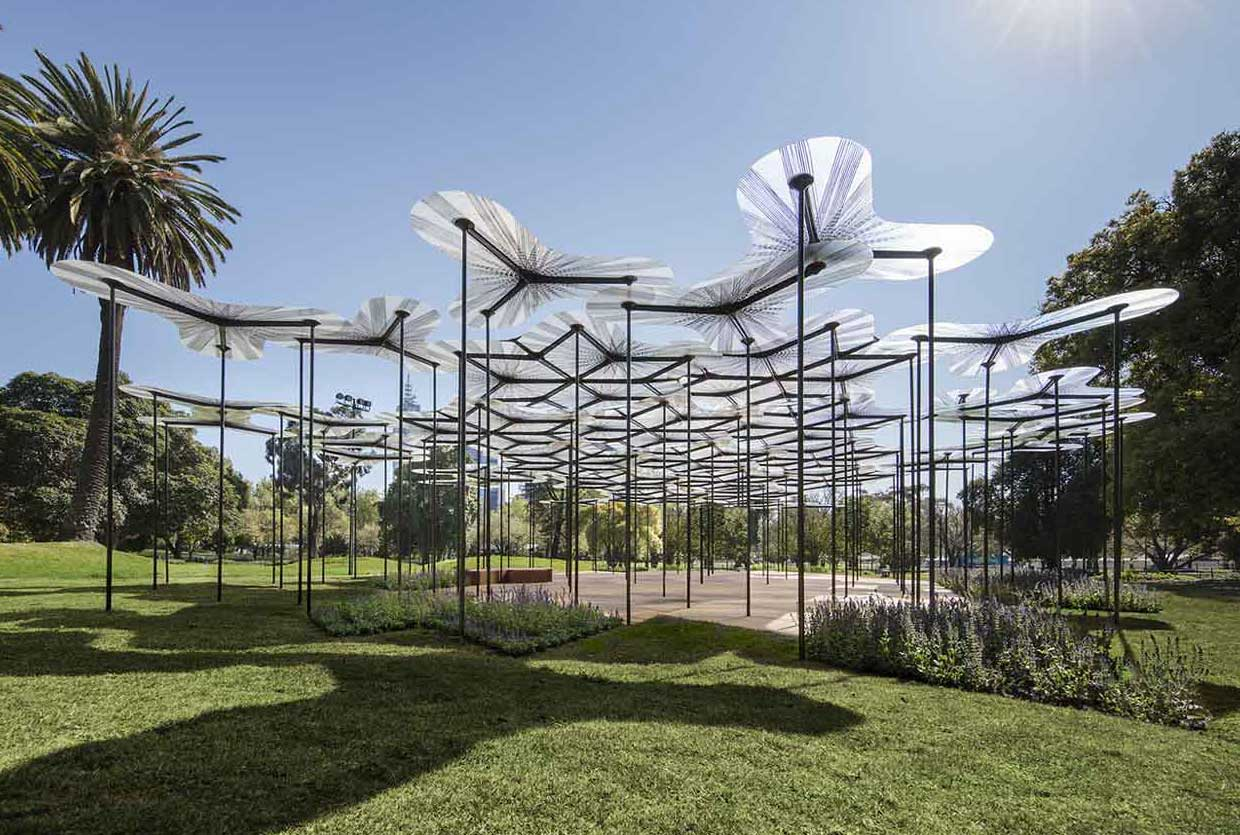 Petal-Shaped MPavilion by Amanda Levete Opens in Melbourne | Yellowtrace