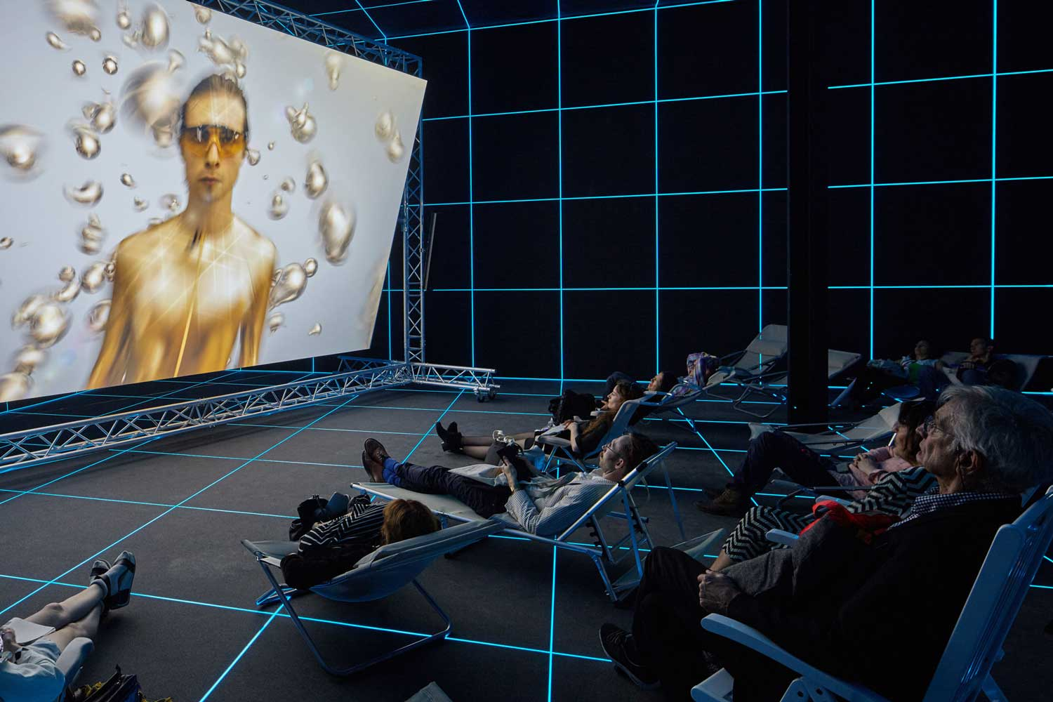 Factory Of The Sun by Hito Steyerl at German Pavilion Venice Biennale 2015   Yellowtrace
