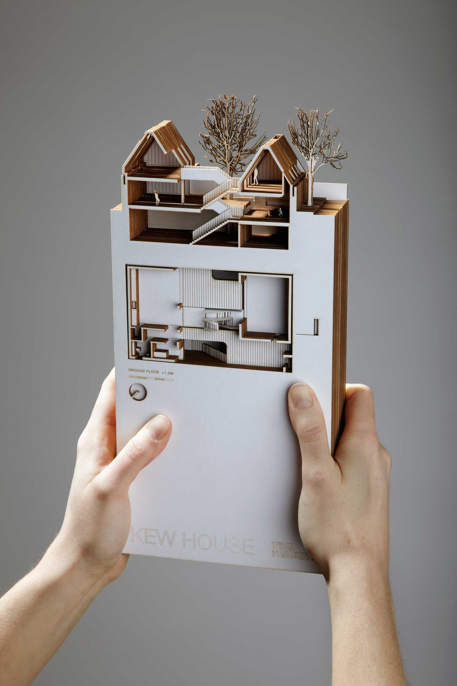 Picture Book Illustration Making An Architectural Model: Kew House By Piercy & Company In London