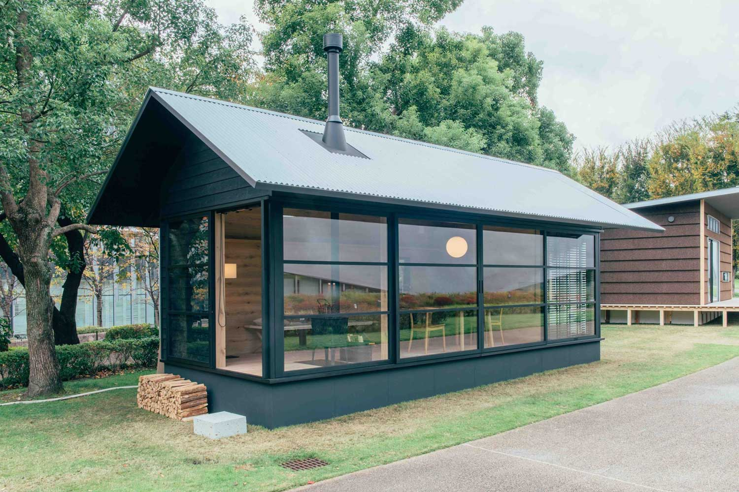 Muji unveils three tiny prefab houses yellowtrace for Small metal homes for sale