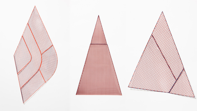One Yarn Of Plastic: Digitally Printed Geometric Patterns by Studio Plott | Yellowtrace