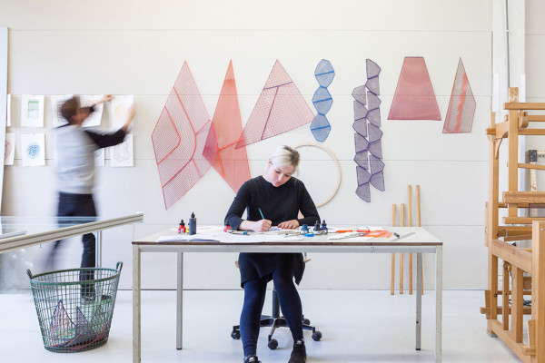 One Yarn Of Plastic: Digitally Printed Geometric Patterns by Studio Plott | Yellowtrace