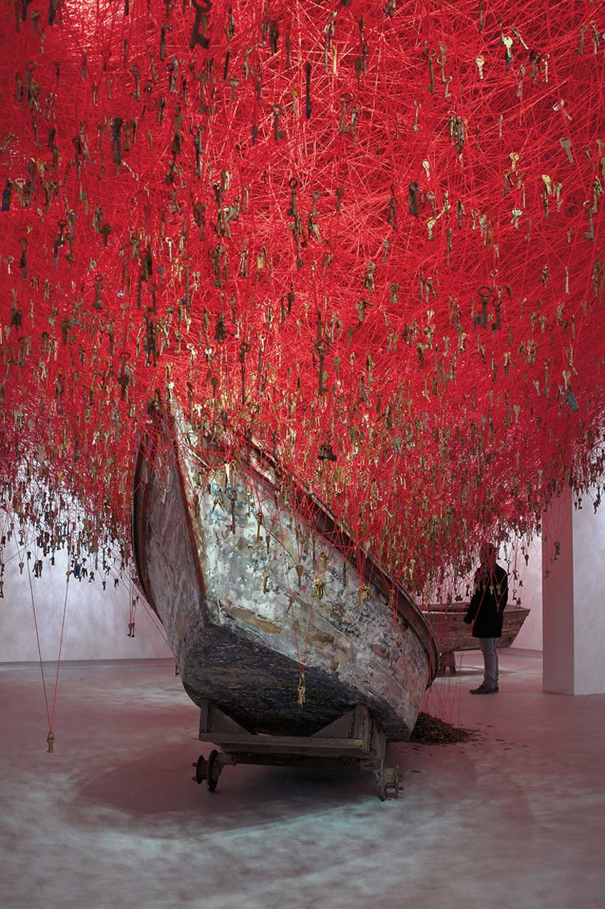 The Key in the Hand by Chiharu Shiota Venice Biennale 2015   Yellowtrace