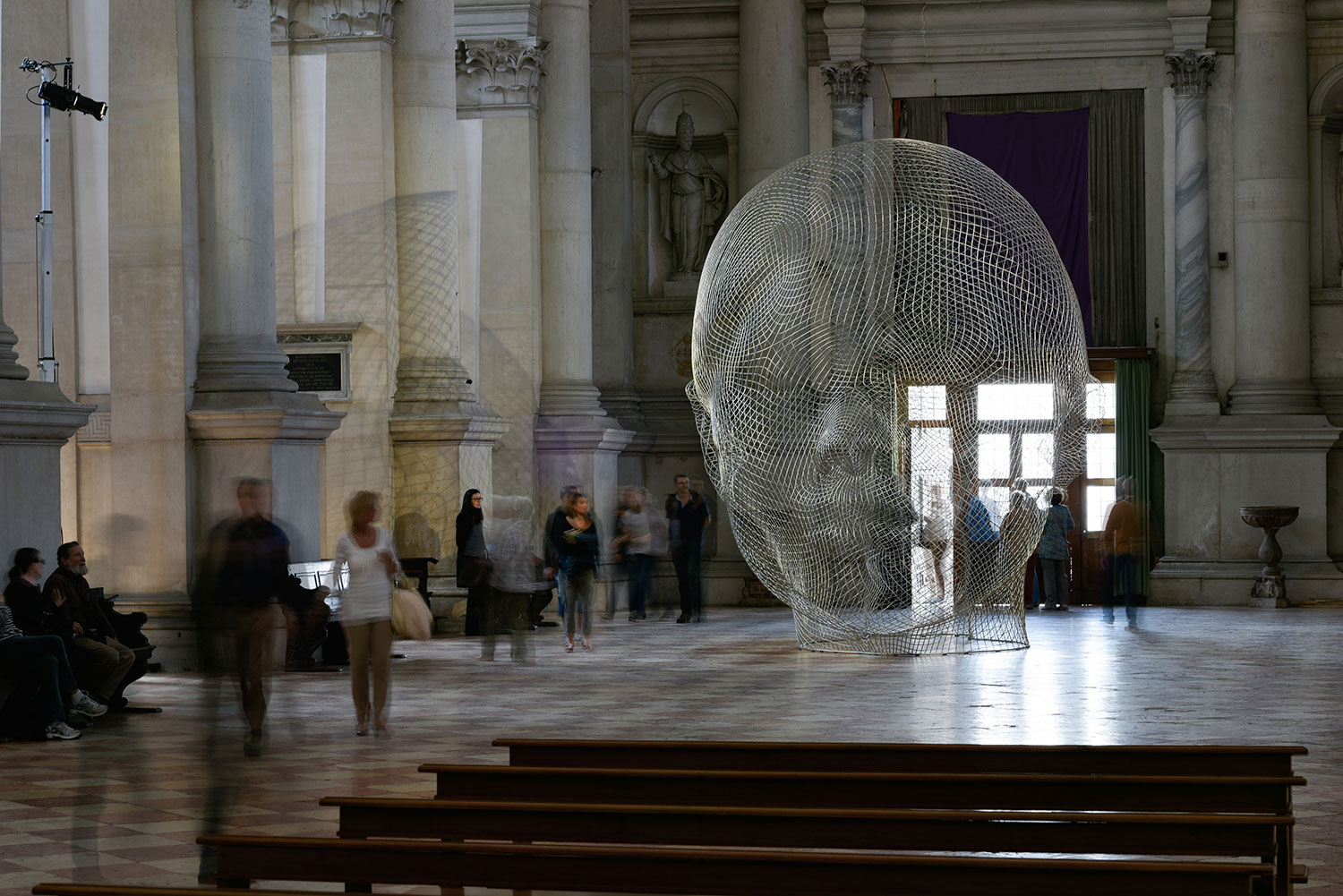 Together Exhibition by Jaume Plensa Venice Biennale 2015. Photo Jonty Wilde   Yellowtrace