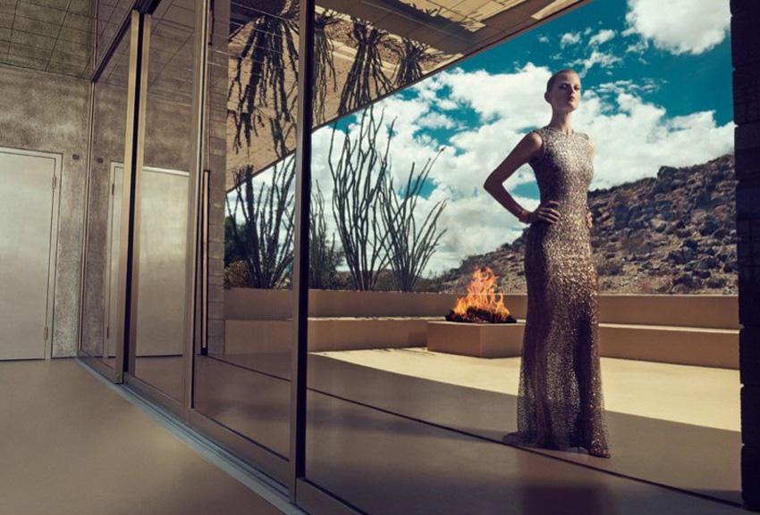 Guinevere Van Seenus wears Resort 2015 Dresses for Bergdorf Goodman   Yellowtrace