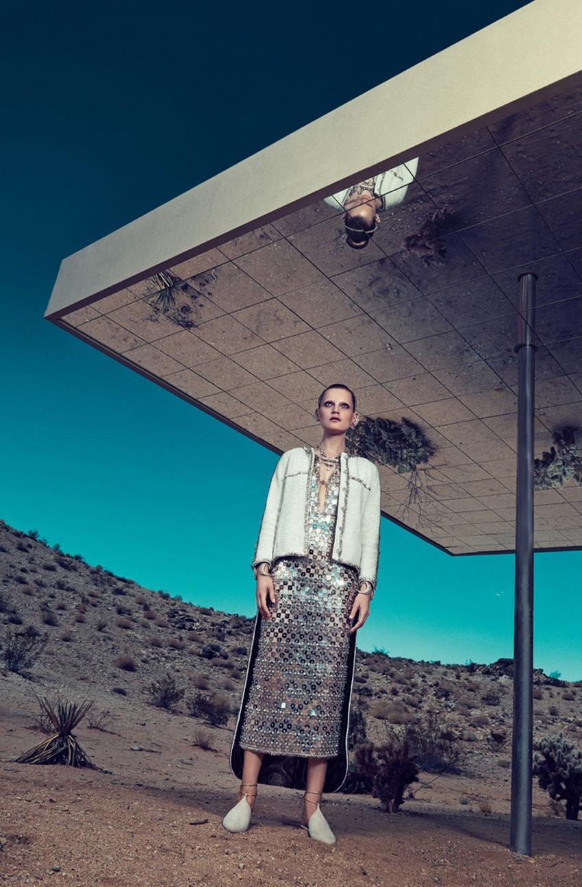 Guinevere Van Seenus wears Resort 2015 Dresses for Bergdorf Goodman | Yellowtrace