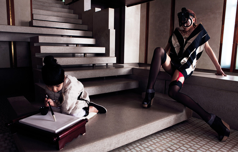 Karlina Caune & Hye Jung Lee Enchant for W Korea March Issue by Gianluca Fontana | Yellowtrace