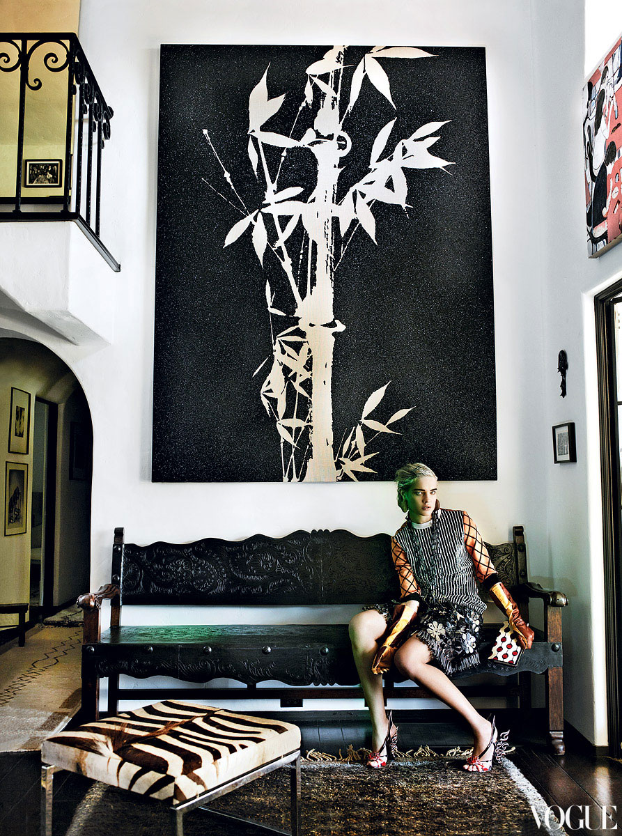 Natalia Vodianova by Mario Testino The Eye Has It Vogue US March 2012 | Yellowtrace