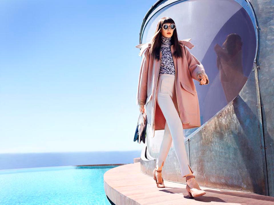 Olga Sherer Sports Neo Mod Style for Elle France Lensed by Marcin Tyszka | Yellowtrace